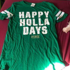 PINK Christmas themed T-shirt